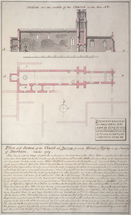 Jarrow, plan & elevation, October 1769
